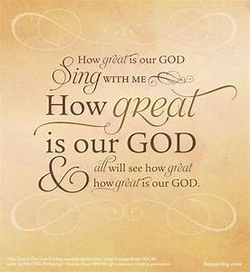 How Great is Our God - Lyrics for Life - dayspring.com ...