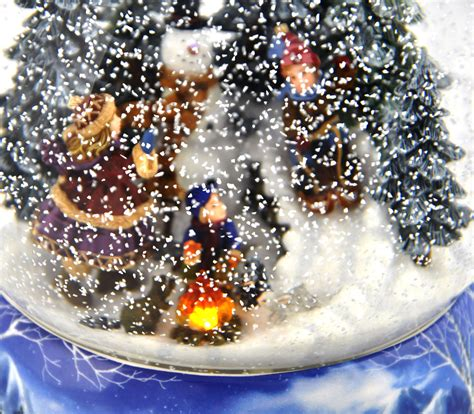 let it snow light up musical christmas snowstorm globe
