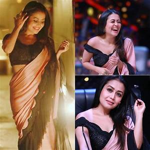 Neha Kakkar Beautiful Silk Ruffle Saree