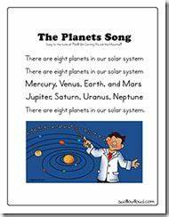 Preschool Lesson Plan Solar System (page 2) - Pics about space