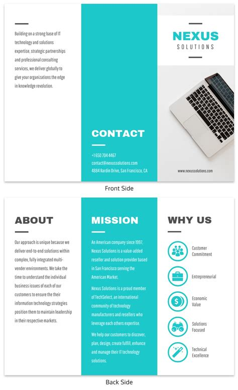 professional trifold brochure templates tips