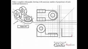 Engineering Drawing Tutorials    Orthographic Drawing Solution   T 6 7