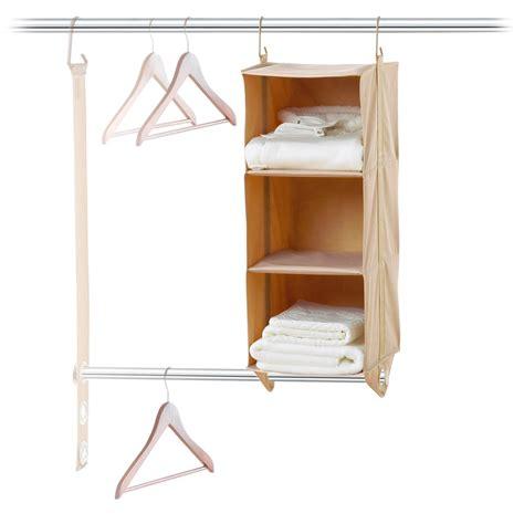 closetmax 3 shelf hanging closet organizer save 48