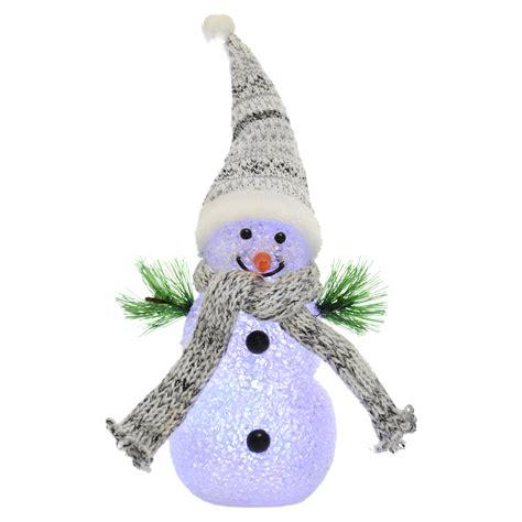 light up snowman 18cm light up snowman colour changing multi led