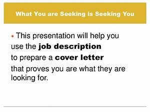 prepare a cover letter using a job description With preparing a cover letter for job