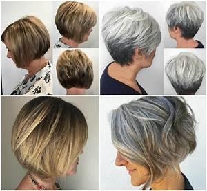 50er Jahre Frisur Lange Haare : frisuren ab 50 grau zweifarbig blond bob kurzhaarschnitt zuk nftige projekte bob frisur ~ Frokenaadalensverden.com Haus und Dekorationen