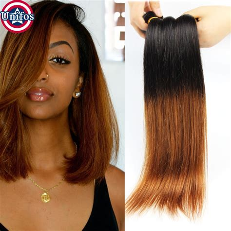 Ombre Weave Hairstyles by Peruvian Ombre Hair 4 Bundles Ombre Human