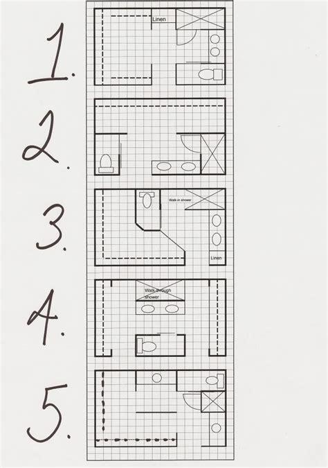 master bath layout options thinking   box