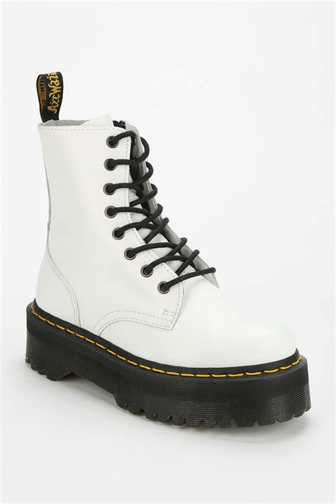 Dr Jart Pull Out Black White lyst dr martens jadon 8eye platform boot in white