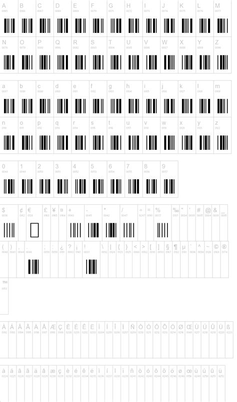 barcode font  letters    fun