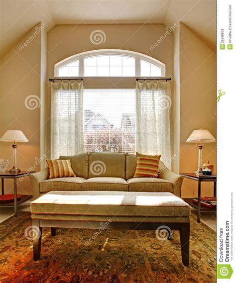 living room  large window  classic sofa royalty