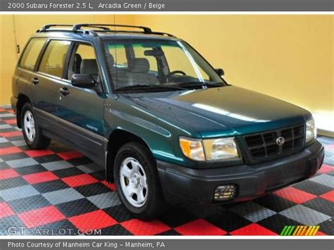 red subaru forester 2000 arcadia green 2000 subaru forester 2 5 l beige