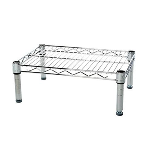 Small Single Shelf by 12 Quot Depth Chrome Wire Shelving Unit With 1 Shelf