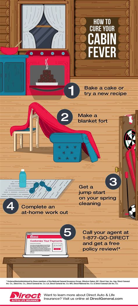 cure cabin fever infographic direct auto life