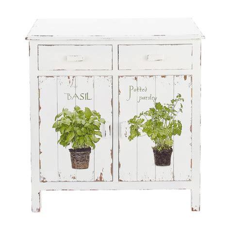 buffet cuisine en bois buffet de cuisine en bois blanc l 80 cm aromates maisons