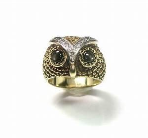 wonderful gold diamond owl ring With owl wedding rings