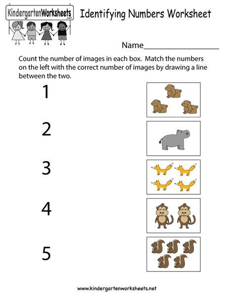 Identifying Numbers Worksheets Kindergarten Photo Worksheet Mogenk Paper Works