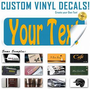 create vinyl decal lettering text personalized sticker With how to make personalized stickers