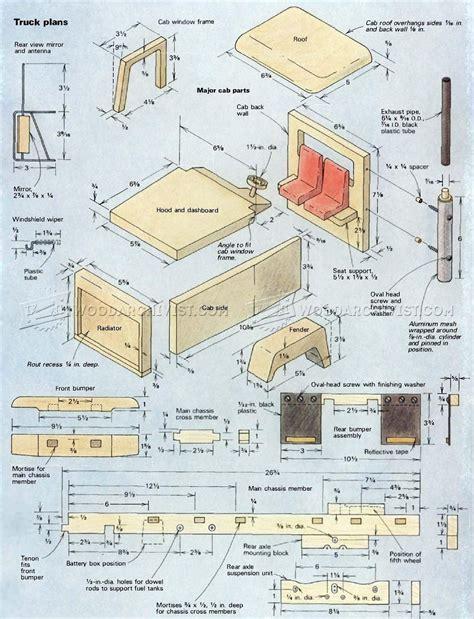 wooden truck plans woodarchivist