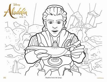 Aladdin Coloring Genie Lamp Activity Sheet Sheets