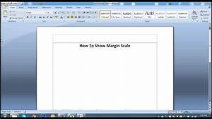 How To Show Margin Scale In Ms Word 2007  Lesson 40