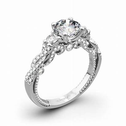 Engagement Stone Ring Verragio Rings Three Braided