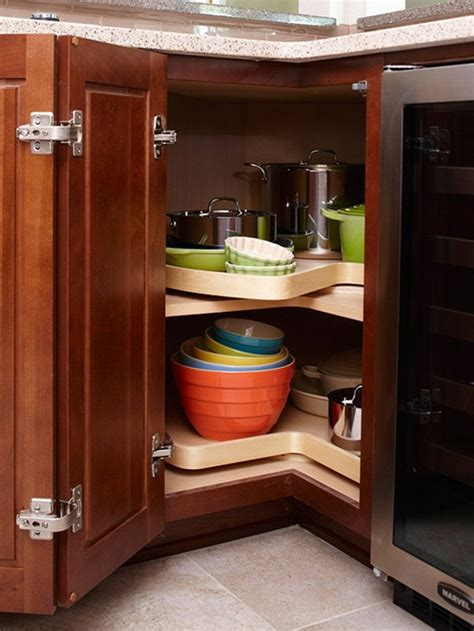 adding a lazy susan in a corner cabinet 5 amazing lazy susan storage solutions