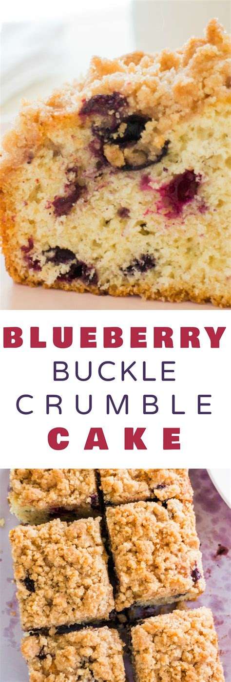 Crumb cake is simply one type of coffee cake. Blueberry Buckle Crumble Cake | Recipe | Moist cakes, Streusel topping and Coffee cake