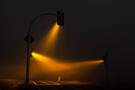 Misty Traffic Lights In Germany Photographed By Lucas