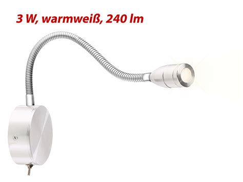 Lunartec Schwanenhals Lampe Ledbett & Leseleuchte Mit