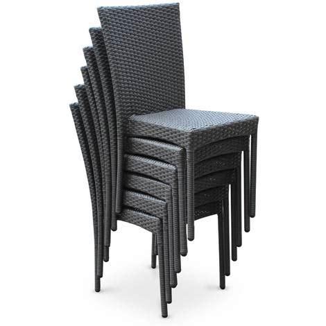 salon de jardin en r 195 sine tress 195 e 6 chaises gris table d aussi nouveau 201 clairage astuce