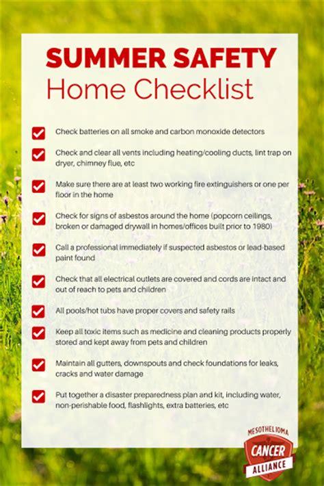 summer safety home checklist  homeschool deals