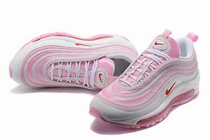 Durable Modeling Nike Air Max 97 GS Pink White 313054 161 Sneakers Women's Sport Running Shoes