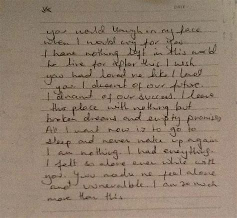 letter to my boyfriend who hurt me jiah khan this is what wrote to sooraj