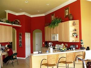 Feel a brand new kitchen with these popular paint colors for Best brand of paint for kitchen cabinets with organic wall art