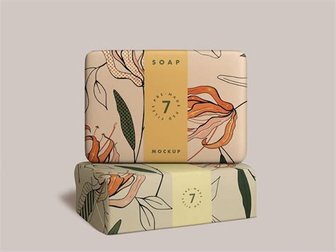 Make your soap packaging designs look fantabulous by using this free soap bar mockup. Soap Bar Mockup by Mockup5 on Dribbble