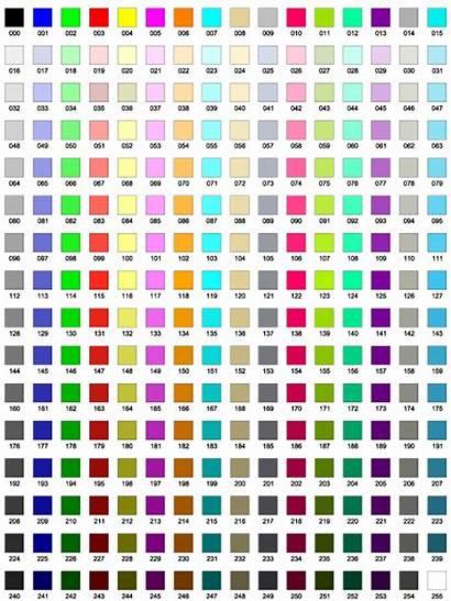 Table Cad Colour Standard Jtp