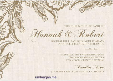 contoh undangan pernikahan agustus  undanganme