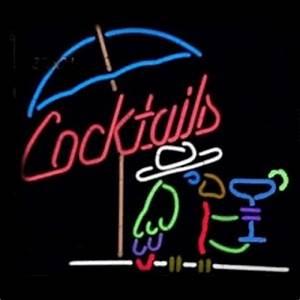 HUGE Parrot Cocktails Beach Umbrella Martini Glass Pub Bar