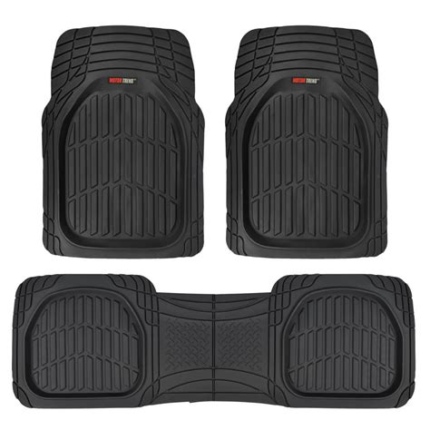 weather car mats motor trend dish mt 923 black heavy duty 3 all