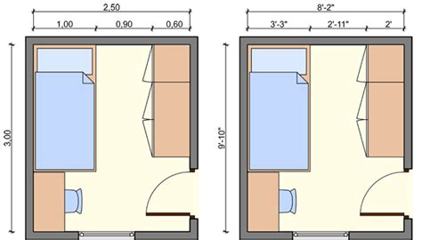 Bedroom Sizes by Kid S Bedroom Layouts With One Bed