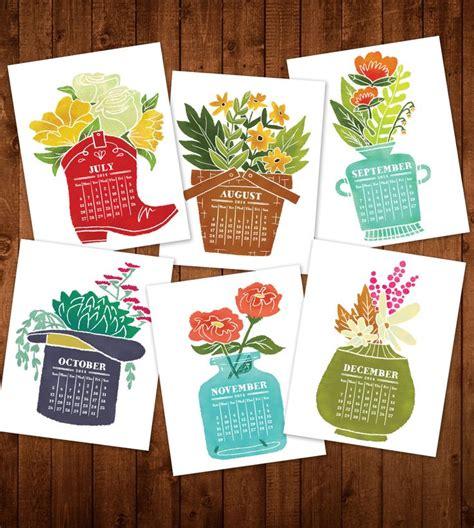 garden printable desk calendar instant floral flower