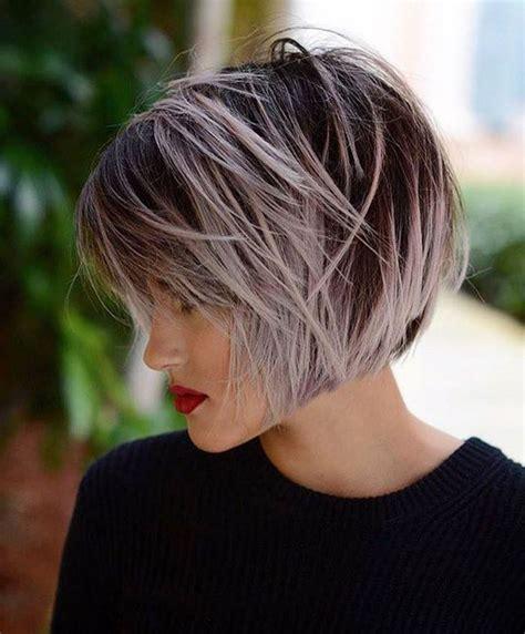 schwarze haare grau färben kurze haare farben ombre moderne frisuren