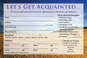 Visitor Cards Templates for Churches