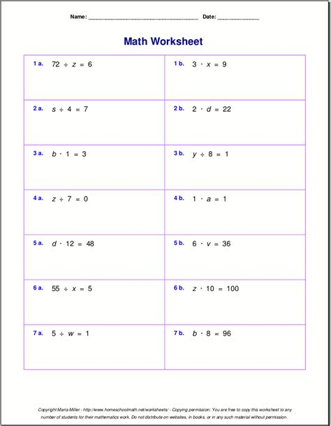 order  operations worksheets  answer key