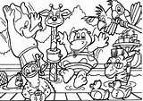 Coloring Pages Wild Animal Animals sketch template