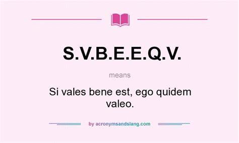 si e d inition what does s v b e e q v definition of s v b e e q
