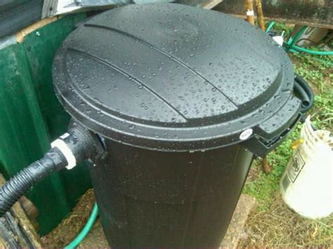 diy filter used 37gal trash can with 200 ft polyothen