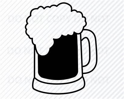 Beer Silhouette Mug Svg Cricut Clipart Clip