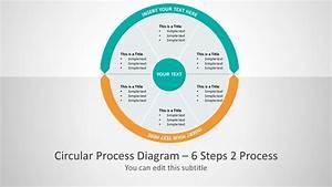 Six Segments Circular Two Process Powerpoint Diagram